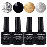 Allenbelle Esmaltes Permanentes Para Uñas Nail Art Soak Off UV LED Esmalte Permanente de gel (Lot 4 pcs 7.3ML/pc) 017