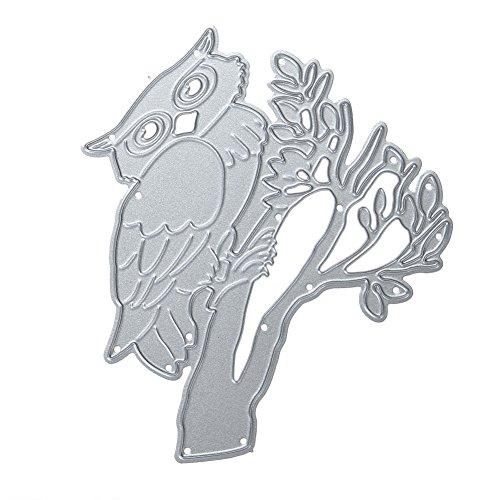 starnearby Kaminabdeckung Zweige DIY handgefertigt Craft Schablonen Decor Werkzeug Set Schneiden - Papier Owl Gewicht