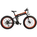 T750Plus 27 Speed 26*4.0 Fat Bike, bici elettrica pieghevole 1000W 48V 10Ah batteria al litio...
