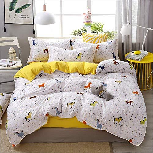 SHJIA Geometrische Bettwäsche Twin Full Queen Size Bettwäsche Set Reaktivdruck Bettwäsche Bettbezug Kissenbezug C 200x230cm