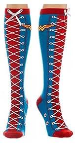 Femmes DC Comics Wonder Woman Faux dentelle Chaussettes montantes