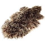 Alfombra con forma de animal Tíbet piel de cordero ¡Una amplia gama de colores! JAY106 color marrón (Tops)