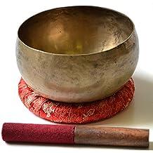 BUDDHAFIGUREN/Billy Held Tibetische Klangschalen Set mit Zubehör, Metall, Khobre, 450 g-500 g