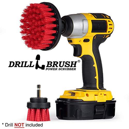 Kit 42 Deck (Drill Brush - Cordless Drill - Drill Brush Attachment - Cleaning Brush for Drill - Drill Brush Set - Drill Scrubber - Drill Attachments - Outdoor - Concrete - Garden - Patio - Bird Bath - Headstones)