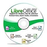 LibreOffice 2019 Software Office Suite DVD Word & Excel kompatibel für Windows PC & Mac - Home & Business {Professional Boni, kein Abo }