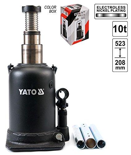 Hydraulik Stempelwagenheber Flaschenwagenheber 2-Stuffig 10 T Hoch