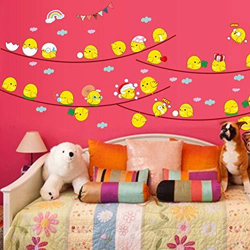 Wandtattoos PVC selbstklebend Kinderzimmer Küche Dekoration kostenlose Aufkleber Cartoon glückliche Küken können umweltfreundliche dekorative Wandtattoos entfernt werden -