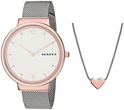 SKAGEN Chronograph White Dial Womens Watch-SKW1086