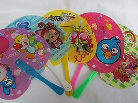 10x Quality Hologram Moving/Changing Picture Plastic Cartoon Children's Kids gift bag party Hand Decorative Fans 23cm diameter - posted from London by Fat-Catz-copy-catz