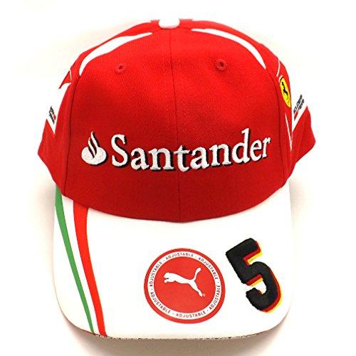 Ferrari F1 da corsa Replica SF Vettel 5 Puma Cappellino ufficiale rosso 2016 b3b6bd26bece