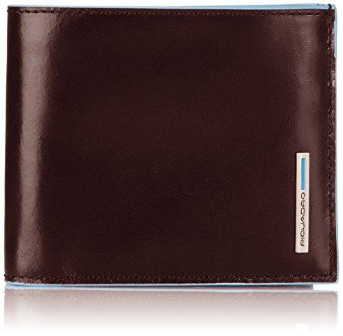 Piquadro PU1742B2 Portafoglio, Collezione Blu Square, Mogano