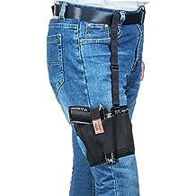 Concealed Carry Funda de Pierna, Fullmosa antideslizante muslo Holster funda de pistola con un mag Pouch para ajustable para Glock, Ruger, Sig Sauer, S & W para los hombres, mujeres, derecho y izquierda mano Draw, Negro
