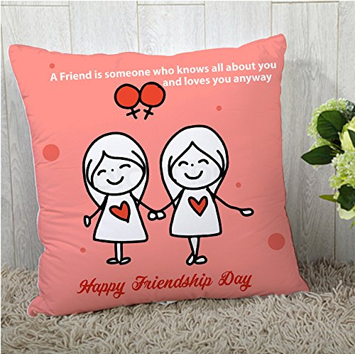 the purple tree Friendship Day Gift Polyester Multicolor Cushion Cover (12x12)