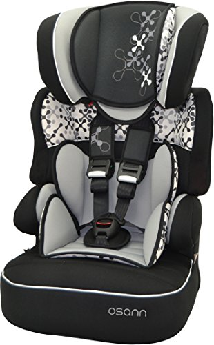Osann bambini Auto sedile BeLine SP Luxe, (9-36 kg), gruppo 1 // 2 3, di ca, 9 mesi a 12 anni, cresce insieme al bambino e poggiatesta, Corail colore Nero