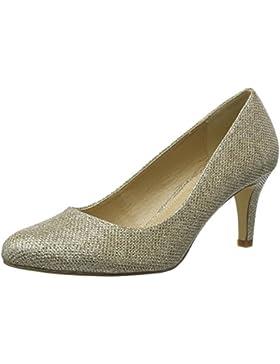 Buffalo Shoes C404a-1 P1855d Glitter, Scarpe Col Tacco con Cinturino a T Donna