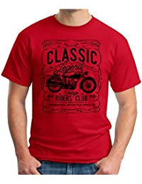 OM3 Classic-Legend-Black - T-Shirt Vintage Riders Club International Motorcycle Supply CO Garage Cult, S - 5XL