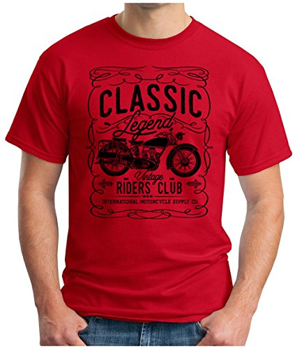 OM3 - CLASSIC-LEGEND-BLACK - T-Shirt Vintage RIDERS CLUB INTERNATIONAL MOTORCYCLE SUPPLY CO GARAGE CULT, 3XL, (Supplies Nyc Party)