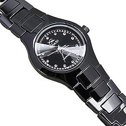 black minimalist watch/Sport quartz watch/Men and women couple watches-A