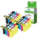 InkJello Kompatible Tinte patrone Ersatz für Epson XP-455 XP-452 XP-445 XP-442 XP-435 XP-432 XP-355 XP-352 XP-345 XP-342 XP-335 XP-332 XP-257 XP-255 XP-247 XP-245 XP-235T2996(BK/C/M/Y, 12-Pack)