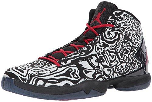 Nike Jordan Super.Fly 4 JCRD, Chaussures de Basketball Homme, Noir/Blanc/Rouge