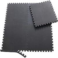 Sporttrend 24 - Schutzmatten Set 6-24teilig schwarz 60x60x10cm   Bodenschutzmatte Unterlegmatte für Fitnessgeräte Sportgeräte