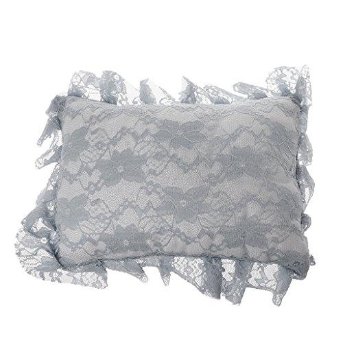 oreiller de positionneur de crochet de dentelle de bébé de lailongp, accessoires infantiles de séance de photo de studio, oreiller de maternité avec l'anse remplaçable et lavable, gris