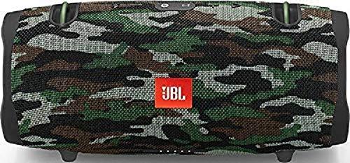 JBL Xtreme 2 Musikbox in Camouflage, Wasserdichter, portabler Stereo Bluetooth Speaker mit integrierter Powerbank, Mit nur einer Akku-Ladung bis zu 15 Stunden Musikgenuss