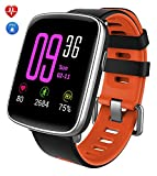 Smartwatch, YAMAY Bluetooth Smart Watch Waterproof IP68 Fitness Tracker Watch with Heart Rate Monitor Pedometer Sleep Monitor Stopwatch SMS Call Notification Remote Camera Music for iOS Android Phone