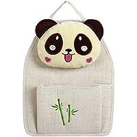 Comparador de precios WBBSN Panda Muñeca Puerta Colgando Bolsa de Almacenamiento misceláneas Bolso Colgante (Gancho Adhesivo Libre) (Tamaño : One Bag) - precios baratos