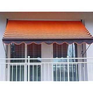 Angerer 2304/200 Klemmmarkise Dralon Nr. 200, Orange, 400 cm