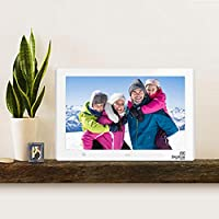 Digital Photo Frame: 10 inch HD Screen with motion sensor (HD Video 1080p) comes in WHITE & with custom Digitize MediaŠ USB stick for you to upload your images for easy viewing or insert your SD card