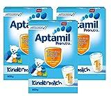 Aptamil Kinder-Milch 1+ ab dem 12. Monat, 3er Pack (3 x 600g)