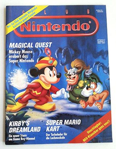 Club Nintendo Magazin SNES Super Nintendo NES GB (u.a. über Mickey Maus Mario World Mario Kart) Spieleberater Zeitschrift Ausgabe 2 März1993 Super Mario World 2 Snes
