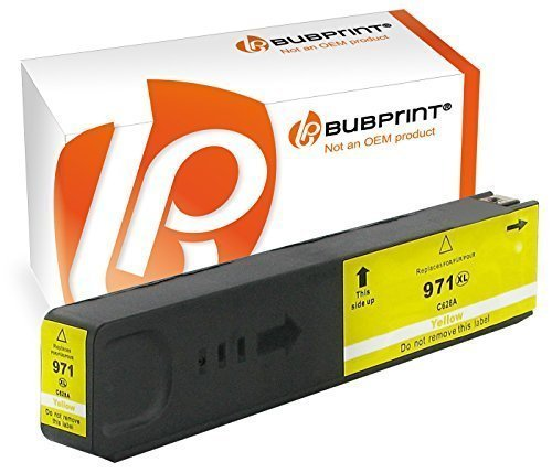 Bubprint Druckerpatrone kompatibel für HP 971XL 971 XL yellow OfficeJet Pro X576dw X576 X476dw mfp X451dw X551dw