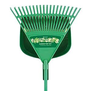 Bentley - Kit de nettoyage pour pelouse avec rateau, pelle et balai
