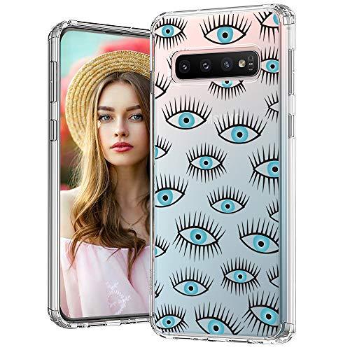MOSNOVO Galaxy S10 Plus Hülle, Böse Augen Muster TPU Bumper mit Hart Plastik Hülle Durchsichtig Schutzhülle Transparent für Samsung Galaxy S10 Plus Case (Evil Eyes)