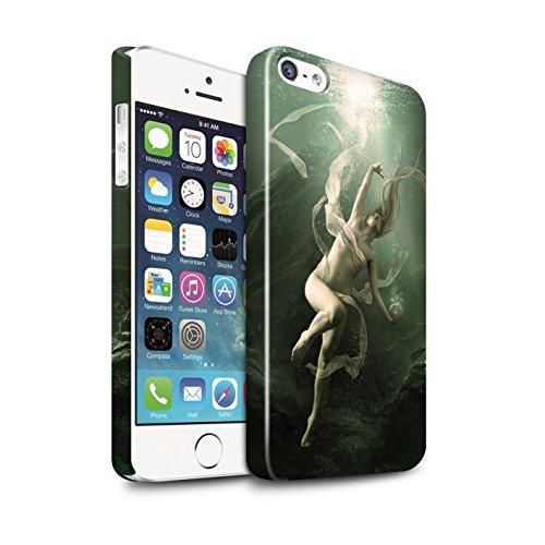 Officiel Elena Dudina Coque / Clipser Brillant Etui pour Apple iPhone SE / Sonrisas/Dauphin Design / Agua de Vida Collection Sous-Marin