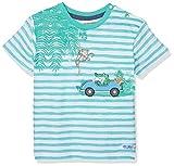 SALT AND PEPPER Baby-Jungen B Jungle Stripe T-Shirt, Grün (Summer Green 662), 86