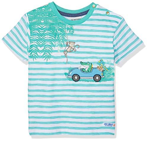 SALT AND PEPPER Baby-Jungen T-Shirt B Jungle Stripe, Grün (Summer Green 662) 74