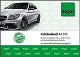 Sigel FA614 Fahrtenbuch für PKW, A6 quer, 40 Blatt