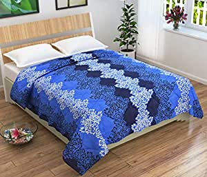 Homefab India Microfibre Comforter, Double Bed (Blue)