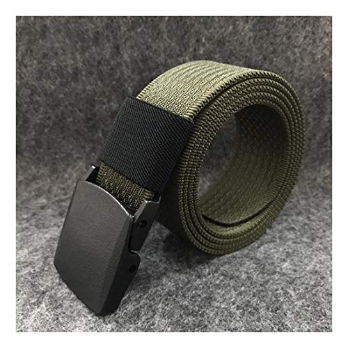 ZHYAODAI Nylon Fabric Strap Quick-Dry Pom Green Plastic Buckle Simple Fashion Mens Luxury Waist Designers Casual Brand, Army Green Twill, 120Cm.