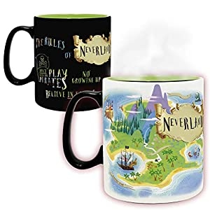 ABYstyle - DISNEY - Peter Pan - Taza cambia color con calor - 460 ml - Neverland