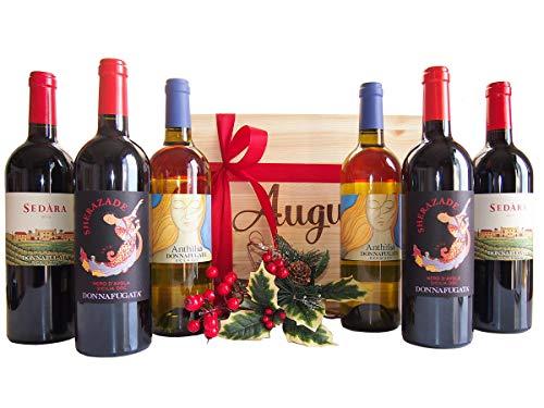 Cassetta regalo natalizio auguri migliori vini donnafugata sicilia- novità selettivo regalo cassette vini natale 2018