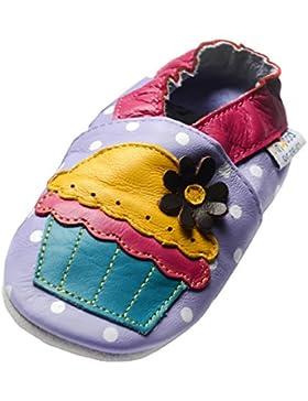 jinw Brentwood Designed by amsomo–Cupcake Lilac–Soft Sole–tartaletas–Zapatillas–Piel puschen–Patucos