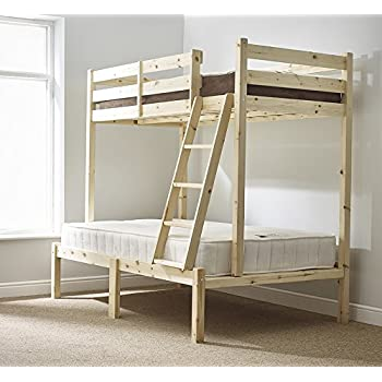 three sleeper bunk bed 4ft 6 double triple sleeper bunkbed heavy duty can be used by adults