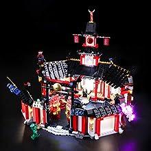 BRIKSMAX Kit de LED pour Lego Ninjago Le monastère de Spinjitzu,Compatible avec la Maquette Lego 70670, La Maquette de Construction n'est Pas Incluse