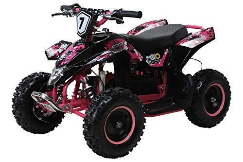 Kinder Elektro Miniquad Fox XTR 1000 Watt Schwarzer Body (Schwarz/Pink)