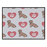 Bozh Alpine Dachsbracke Dog Heart Paws Kitchen Door Pet Welcome Floor Mat
