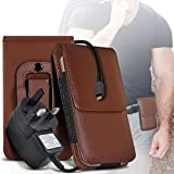 i-Tronixs (Brown) case for ALLVIEW X3 SOUL STYLE case (PU)